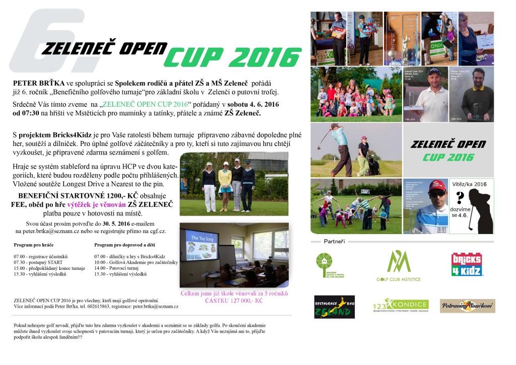 Pozvánka Zeleneč OPEN 2016