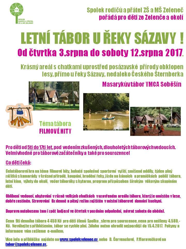 Plakát Tábor Soběšín Spolek 2017