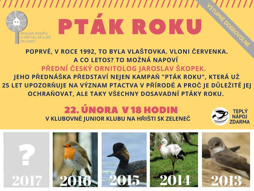 pozvánka pták roku